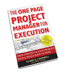 The One-Page Project Manager for Execution